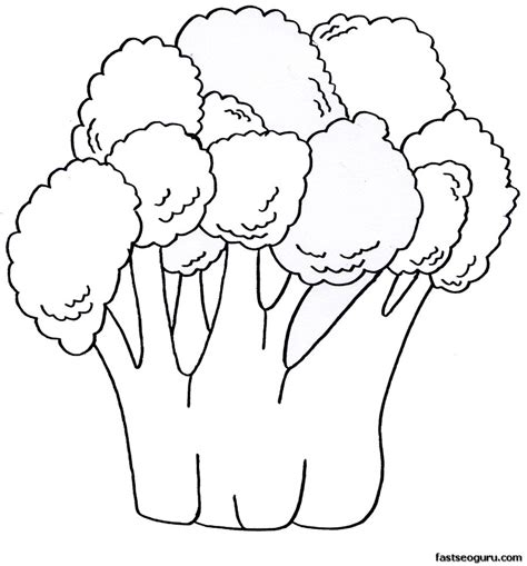 printable vegetable broccoli coloring pages printable
