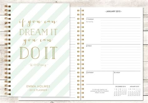 Study Planner Stripes 29 best personalized planners choose your start month images on student planner