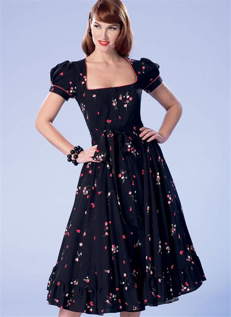pattern in dress making butterick 6352 misses misses petite square neck zip