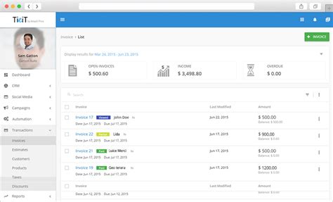 invoice and estimate software account management for small
