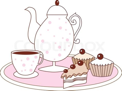 House Shop Plans by Vector Dessert Cake Fruitcake Coffee Pot And Coffee Cup