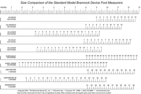 Shoe Size Chart Brannock | conversion chart 169 the brannock device company