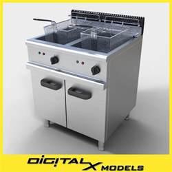 commercial fryer 3d model commercial fryer
