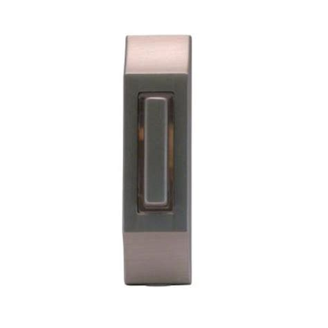 where to buy diode for doorbell iq america wired lighted doorbell push button satin nickel