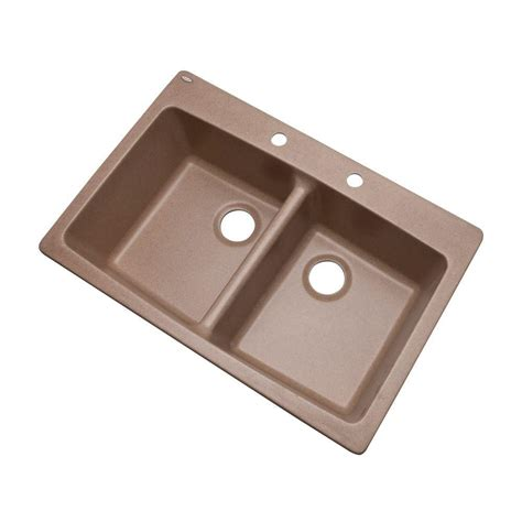 composite kitchen sinks problems mont blanc waterbrook dual mount composite granite 33 in