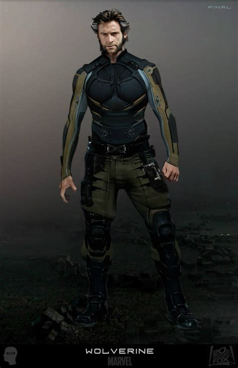 artistry of men concept art for wolverine logan s uniform by artist