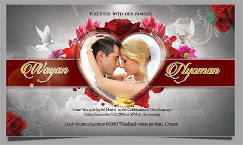 free wedding card templates for photoshop 51 invitation template free word psd vector