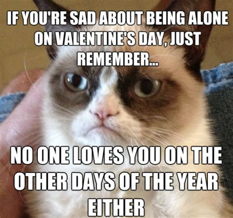 grumpy cat valentines day don t be sad on s day