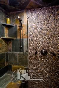 Basement Stone Shower Eclectic Bathroom Minneapolis