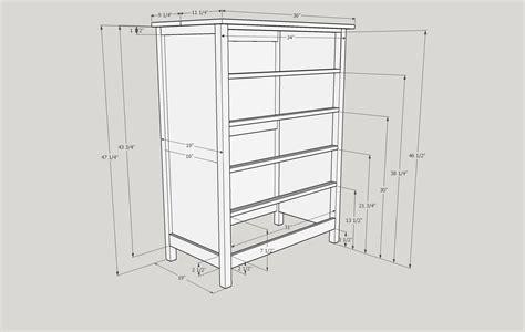 Dimensions Of A Dresser by Dresser Plan Grvland
