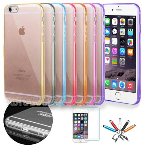 Casing Iphone 6 Plus X Hardcase slim transparent clear tpu for apple