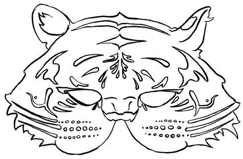 tiger mask coloring page mask coloring pages 360coloringpages