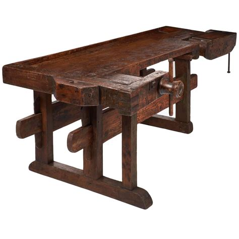 antique work benches colossal antique alpine ski craftsman s workbench at 1stdibs