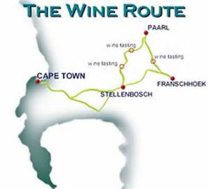 wine highway map cape wine route day coach tours cape town south africa