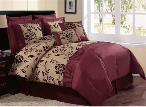 burgundy queen comforter sets beautiful bedroom