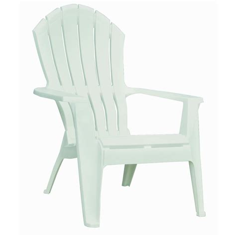 White Plastic Patio Chairs Shop Mfg Corp White Resin Stackable Patio Adirondack Chair At Lowes