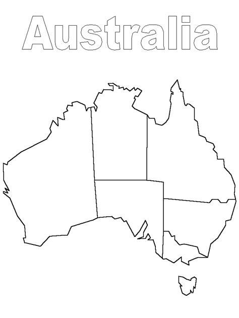 template of australia australia disegni per bambini da colorare