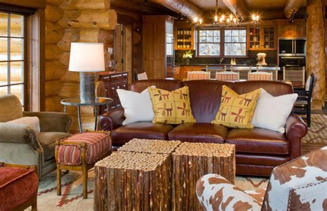 modern rustic living room at solitude grace home design