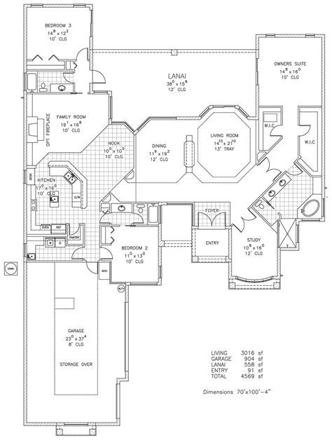 turnberry custom home floor plan palm coast fl
