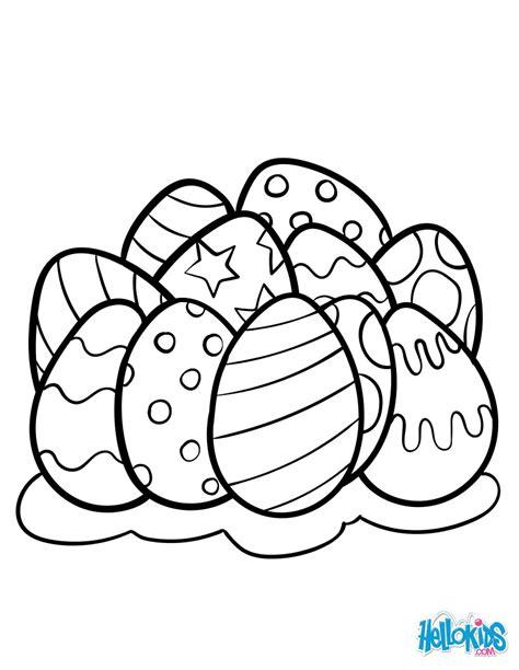 huevos con caritas para colorear dibujos para colorear huevos de pascua es hellokids com
