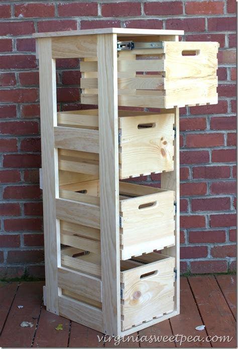 diy crate cabinet with sliding drawers sweet pea