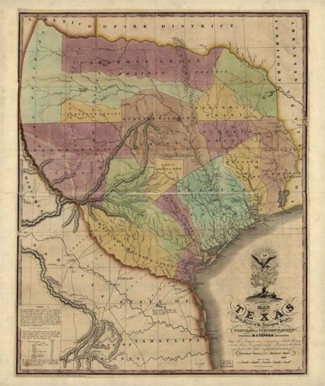 the republic of texas map artifacts from the republic of texas 1836 1845 houston chronicle