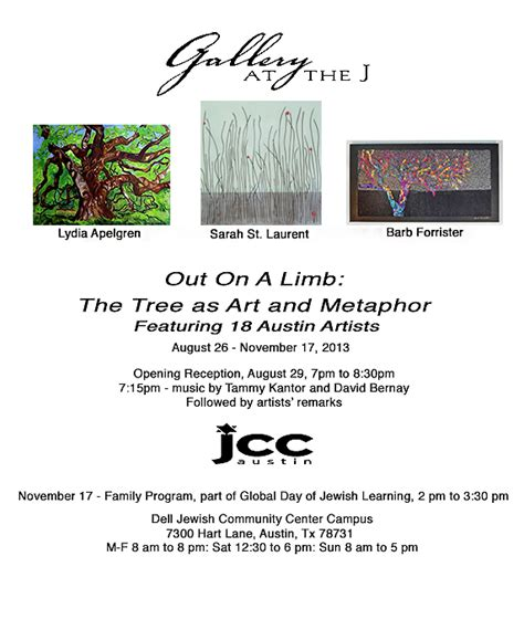 out on a limb free free spirit art studio out on a limb at the jcc