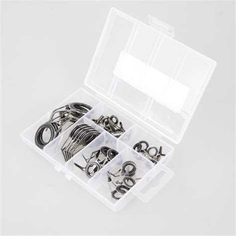 Ring Silver 40 5mm 5pcs Import U S 35pcs stainless steel fishing rod guide tip top ring eye repair kit strong line rings rod guide