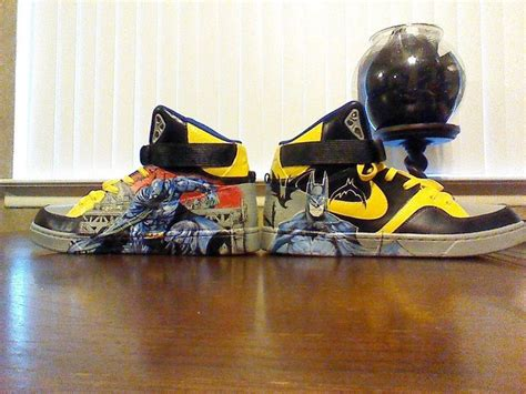 sandal sancu batman size 2124 custom painted quot batman quot nike shoe quot court tranxition quot size