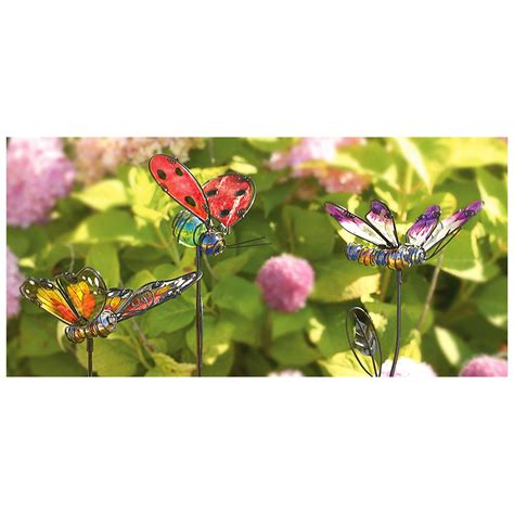 Solar Gutter Lights Review - 3 glass garden stakes 297474 decorative accessories at sportsman s guide