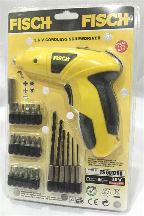 Cordless Screwdriver 3 6v Fisch Murah jual cordless screwdriver fisch harga murah surabaya oleh