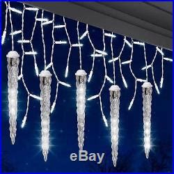 lot 15 lightshow 5 light white icicle string light set