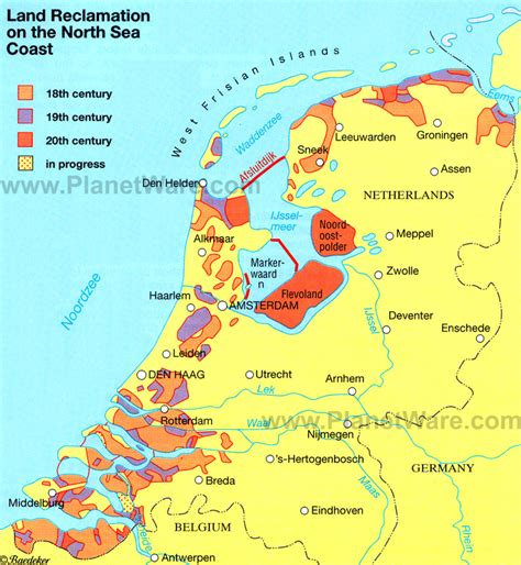 netherlands coast map map of kingdom of the netherlands planetware