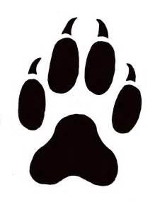wolf paw tattoo clipart best