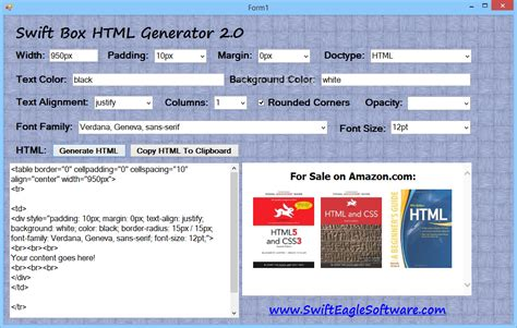 design html generator swift box html generator download