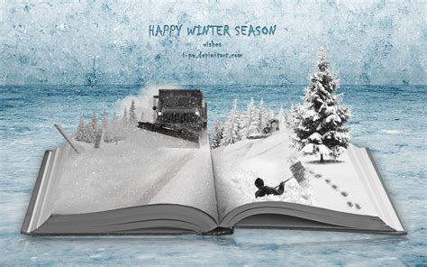 happy winter season winter book by wellgraphic on deviantart