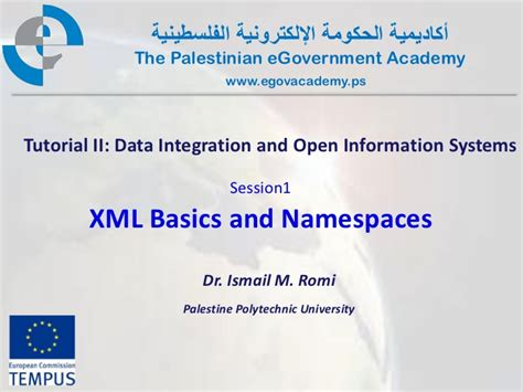 xml namespaces tutorial video pal gov tutorial2 session1 xml basics and namespaces