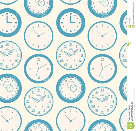 pattern html date seamless retro pattern texture with round clocks vector