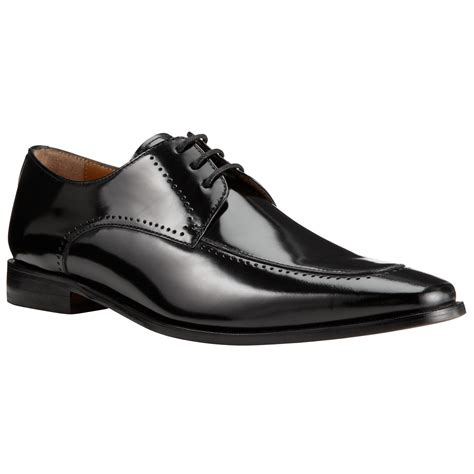 lewis shoes lewis apron front leather derby shoes in black