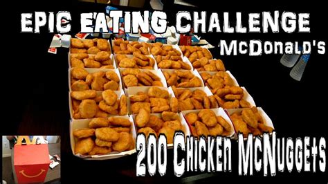 mc donalds challenge 200 mcdonalds chicken mcnuggets challenge vs freakeating