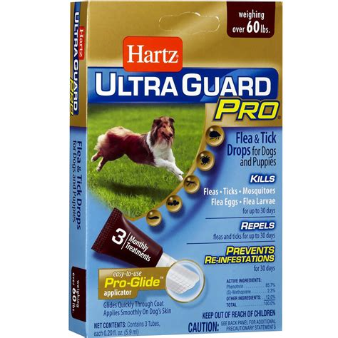 Hartz Ultra Guard Flea Tick Drops For 60 Lbs 108663 hartz ultraguard pro drops for dogs 60 150 lbs healthypets