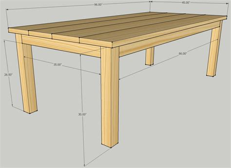 Build Wood Dining Table Free Wooden Dining Table Plans Woodworking Projects