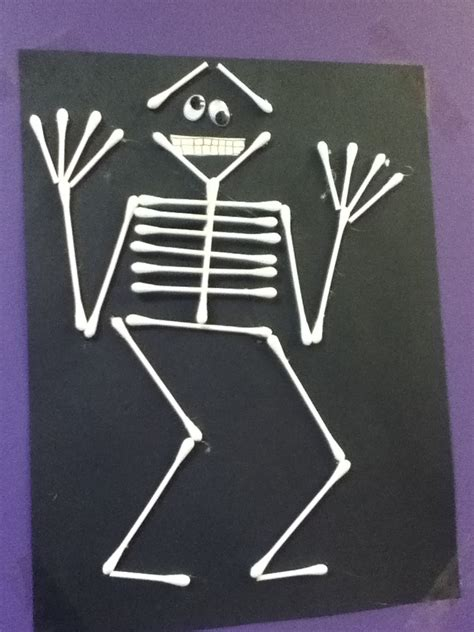 q tip skeleton craft template q tip skeleton craft ideas