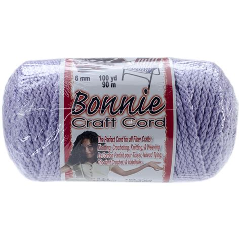 Craft Cord - bonnie macrame craft cord 6mmx100yd lavender