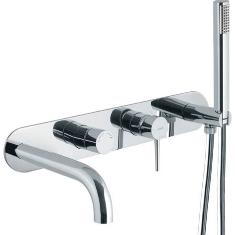 Wall Mounted Bath Taps With Shower Attachment abode chao ab4044 bath mixer with handset sinks taps com