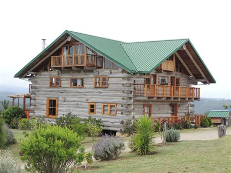 Large Debt Free Log Home Built by Hand   Green Homes