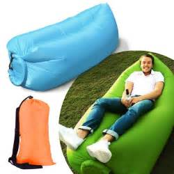 Camping Inflatable Sofa Inflatable Sofa Air Bed Chair Seat Blow Up Lounger Bag