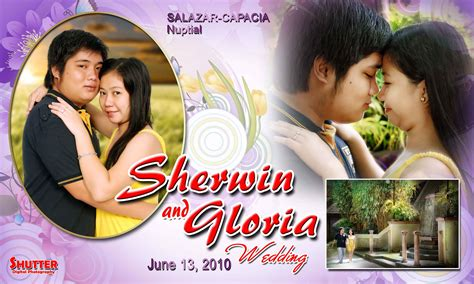 wedding layout tarpaulin sherwin and gloria shutter digital photography