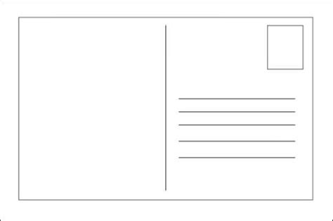 Blank Standard Card Template by Mailing Printable Business Postcard Template Calendar