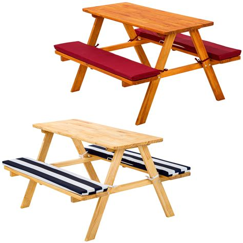 Childrens Picnic Tables by Picnic Table Bench Set Childrens Wood Garden